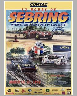 1992 Sebring 12 Hours Poster