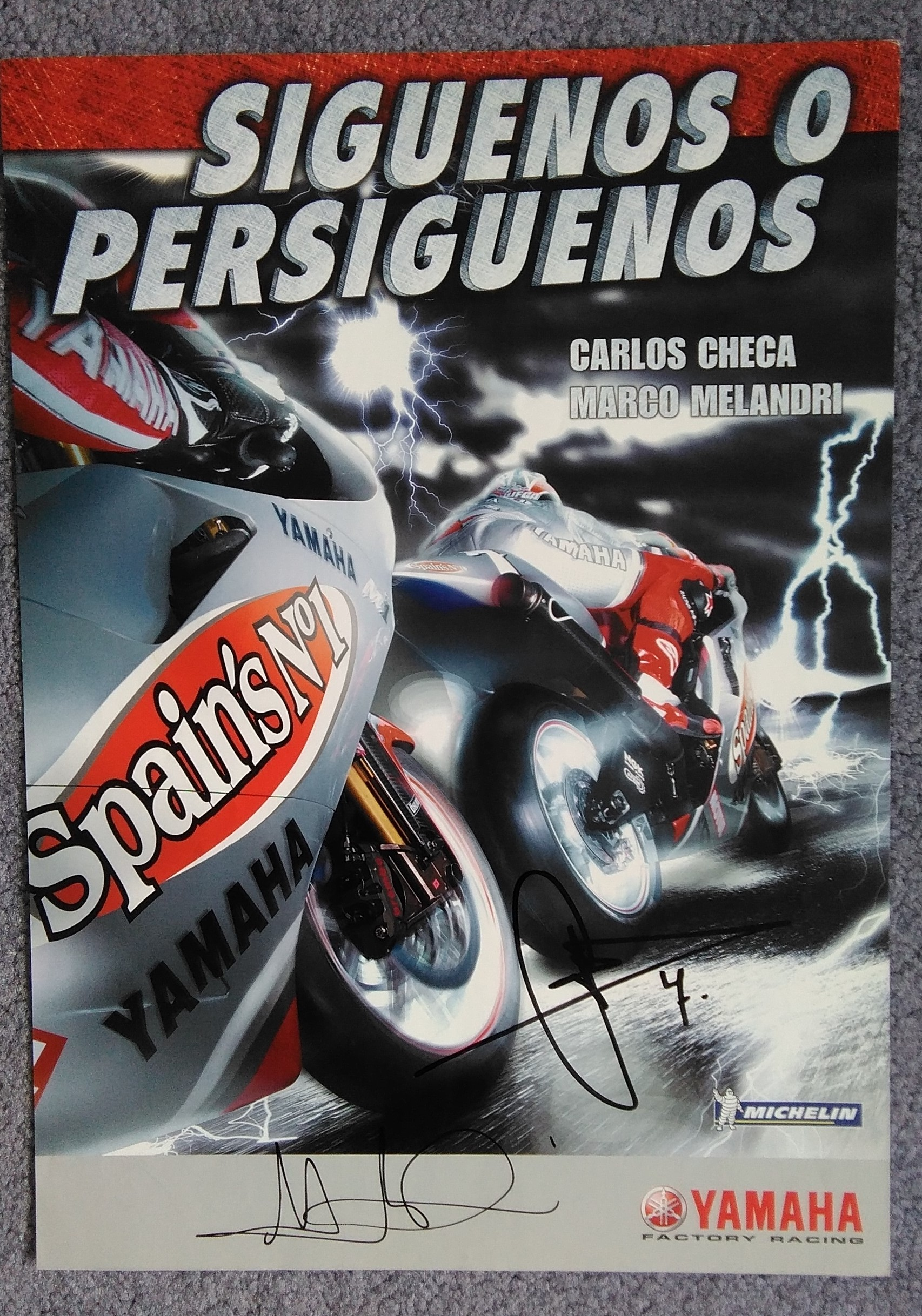 Fortuna Yamaha Signed-Melandri-Checa