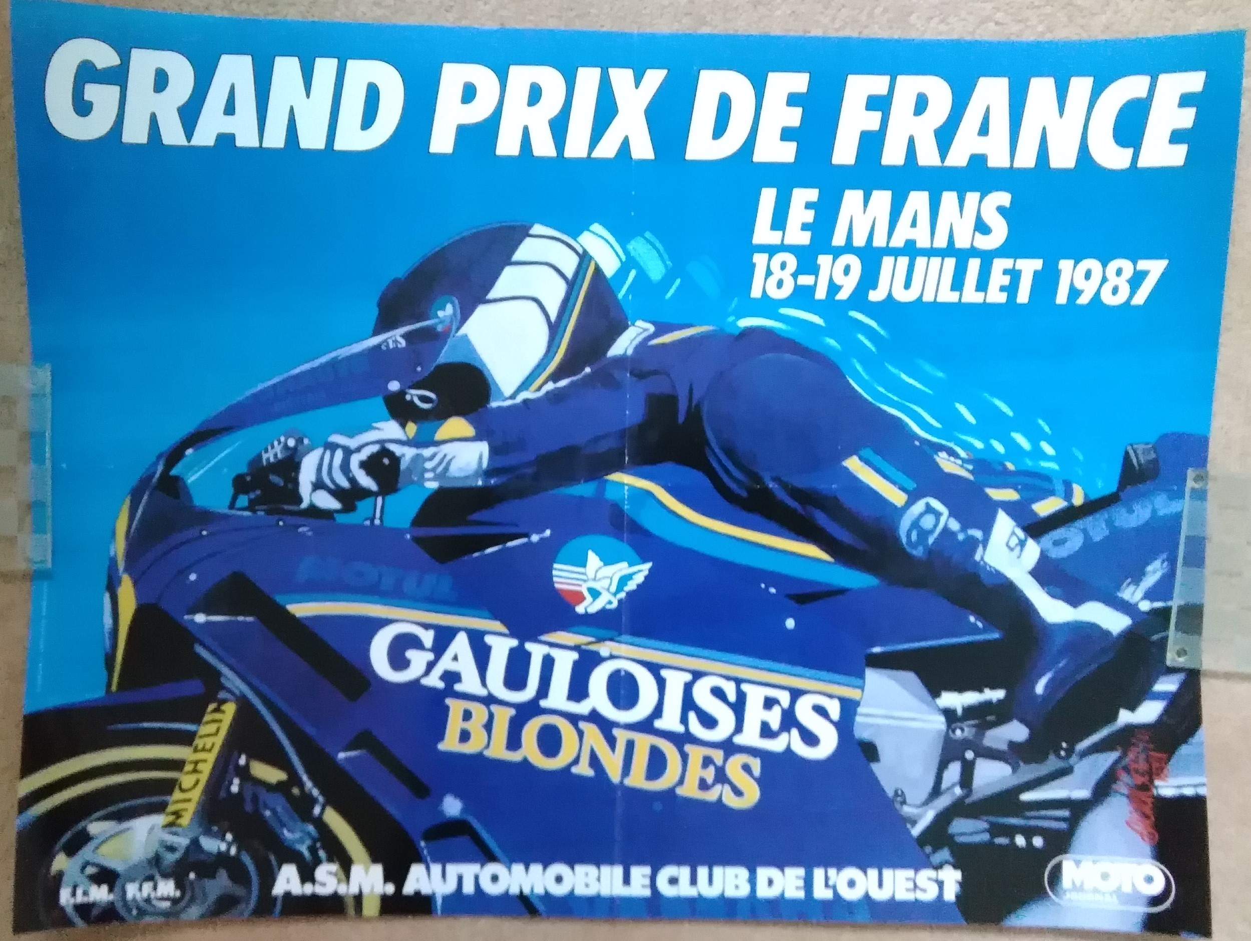 1987 French Bike GP Poster