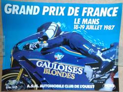 1987 French Bike GP Poster