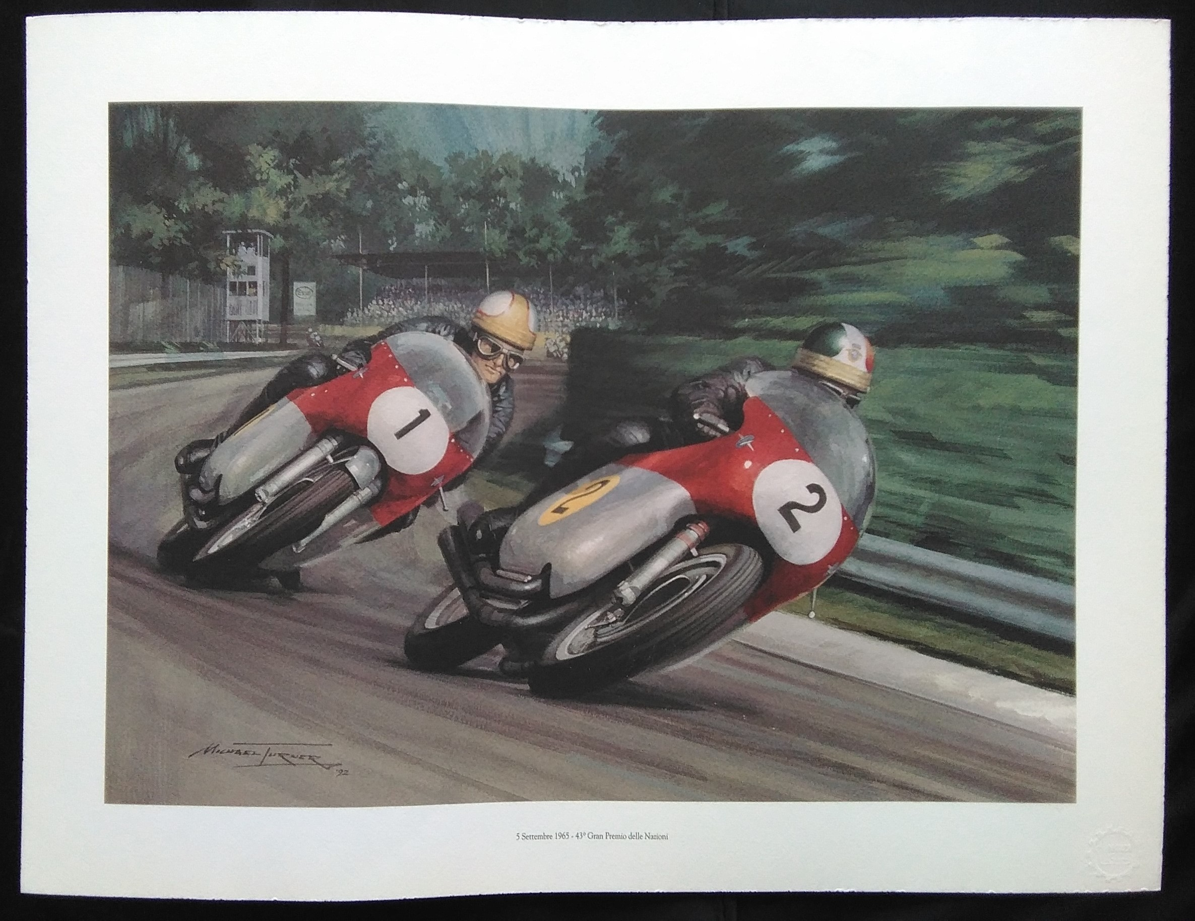 Agostini and Hailwood Monza 1965.