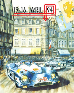 1994 Tour de France Auto Poster