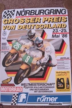 Original 1986 German Grand Prix Poster