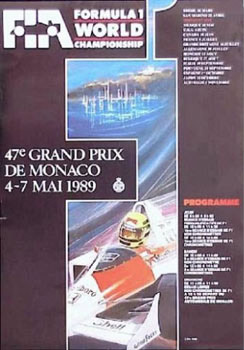 Original 1989 Monaco Poster