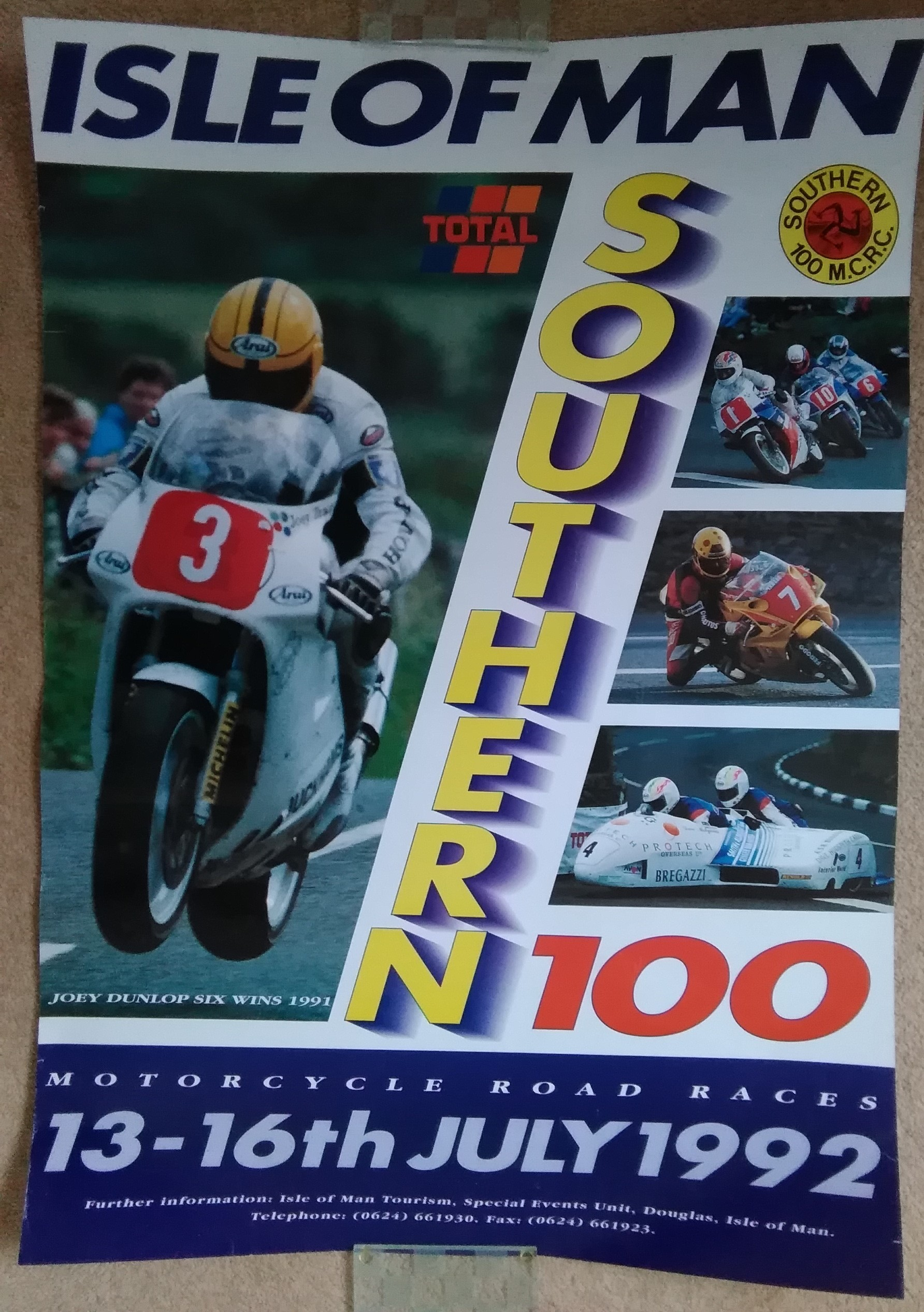 1992 Southern 100 Poster