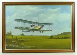 J.Pettitt-Vickers Vimy Original Oil