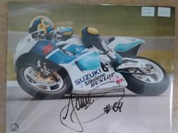 Jamie Whitham Signed Suzuki Photo
