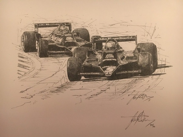 Andretti & Peterson Lotus Drawing