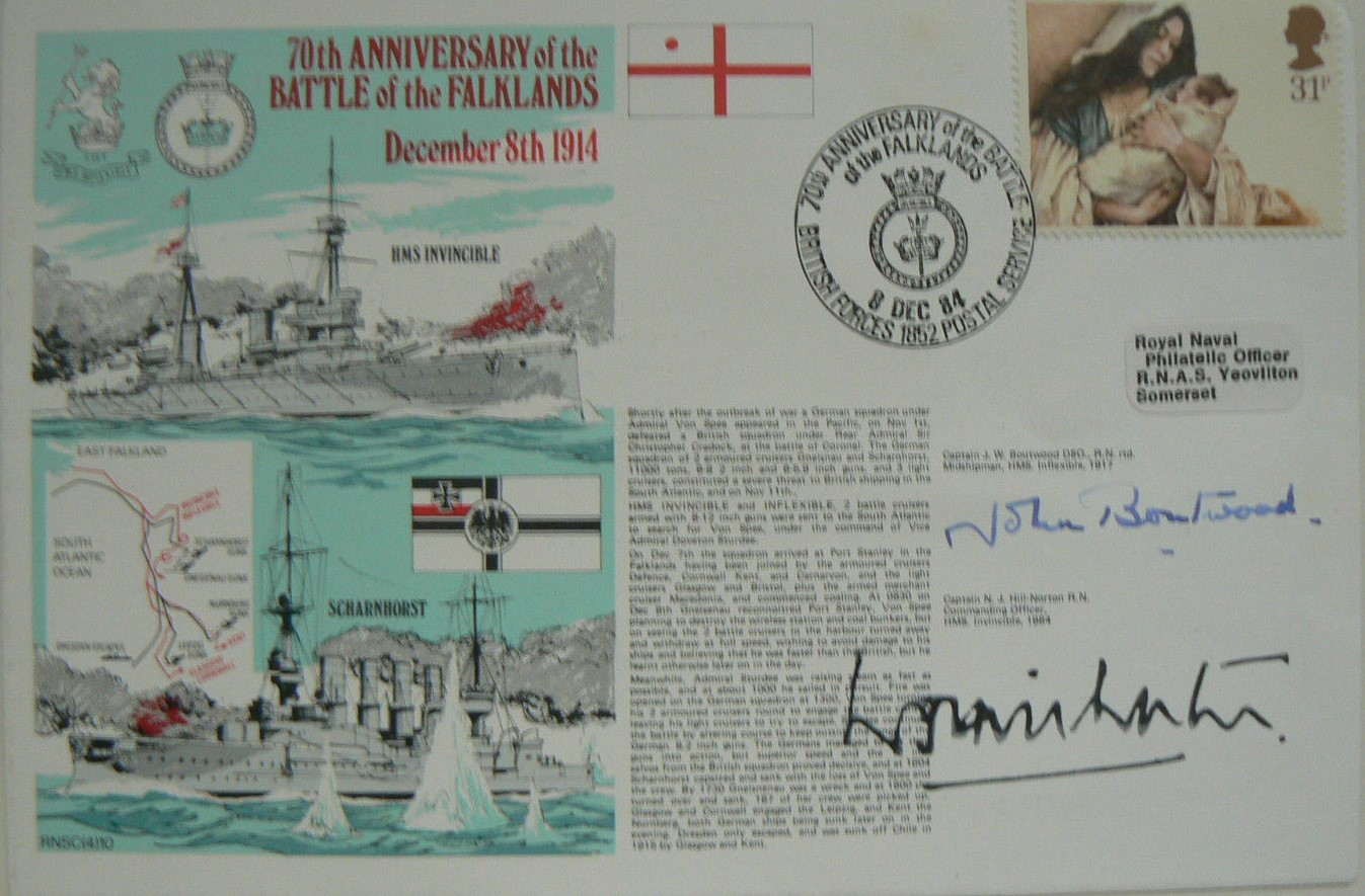 Falklands WW1 Anniversary Signed FDC