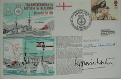 Falklands WW1 Anniversary Signed FDC