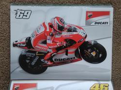 Nicky Hayden Ducati Moto GP Poster 2011