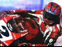 Carl Fogarty Ducati Signed