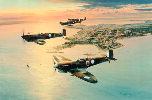 Spitfires Over Darwin (Artist Proof)