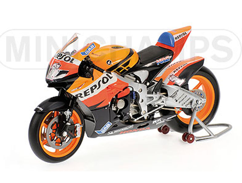 Nicky Hayden 2007-Honda Orange Wheels