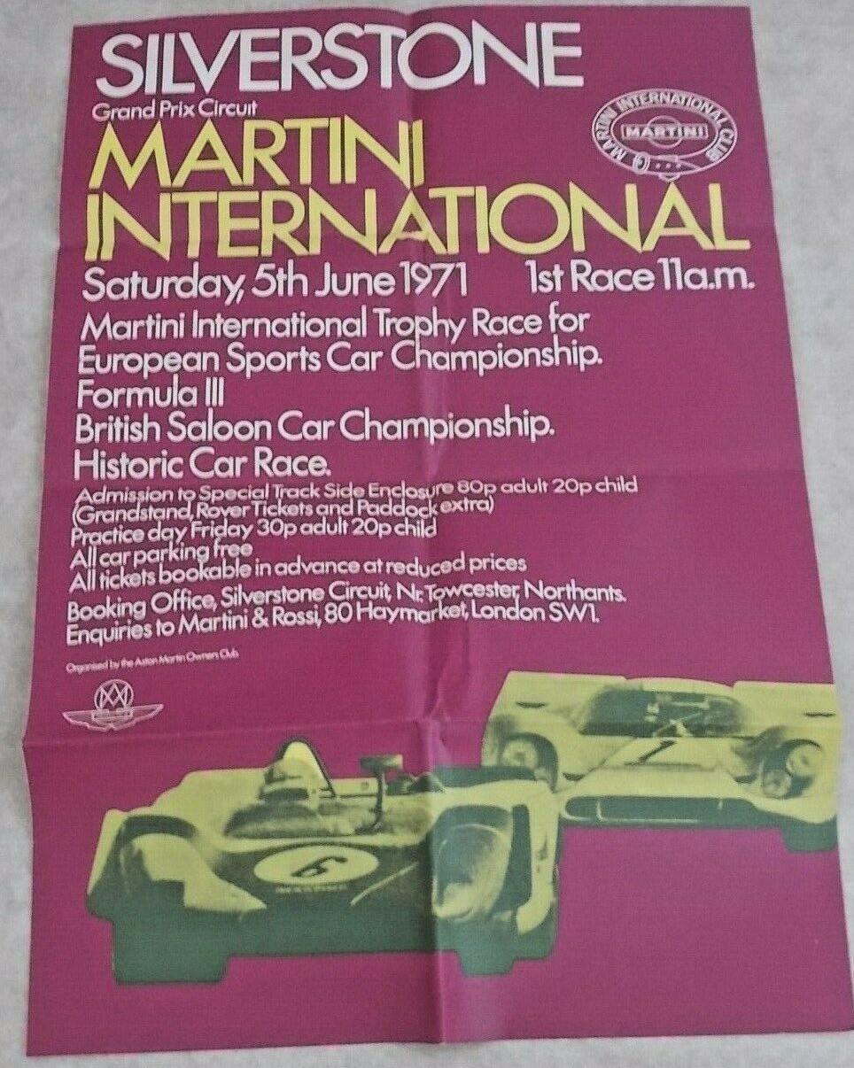 Silverstone Martini Int 1971 Poster
