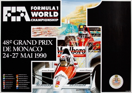 1990 Monaco F1 GP Original Poster