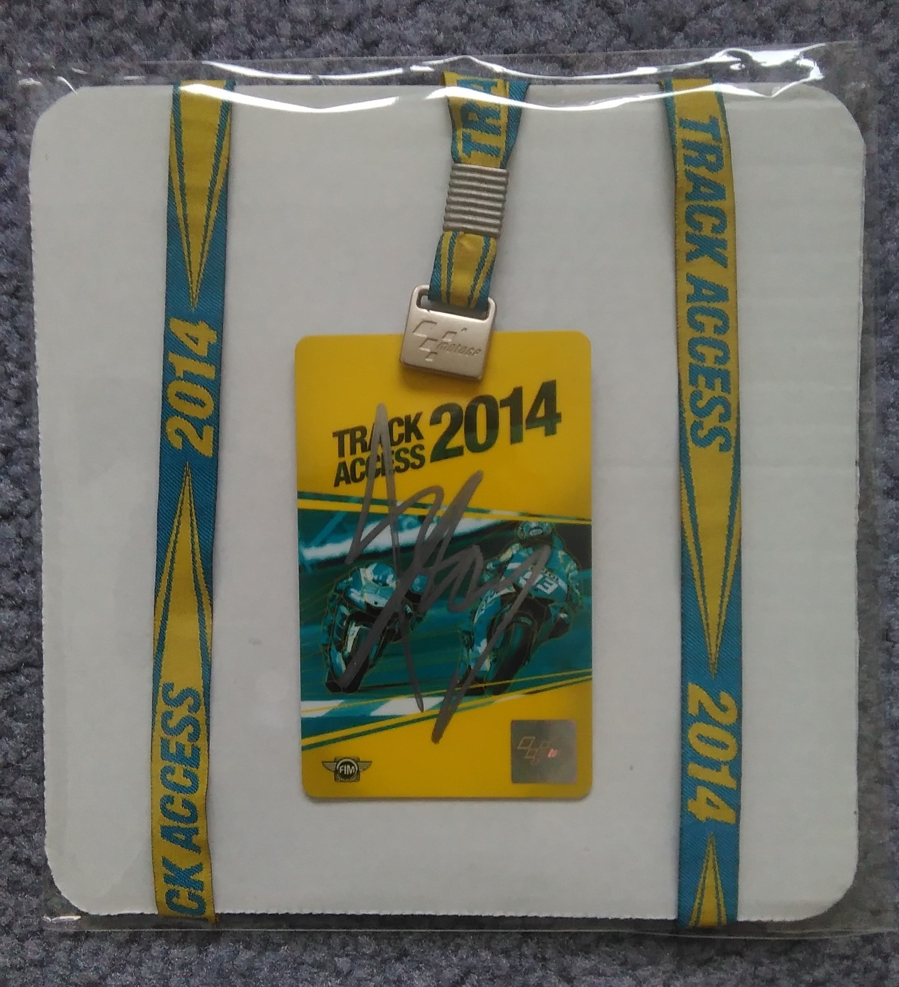 Marquez Signed 2014 Track Pass