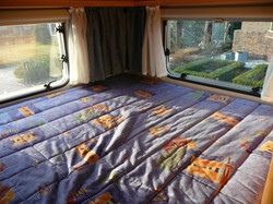 Double bed in the back
