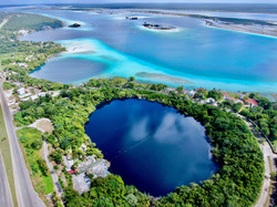 Bacalar aerial views with drone