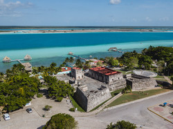 Museum on the lagoon of Bacalar
