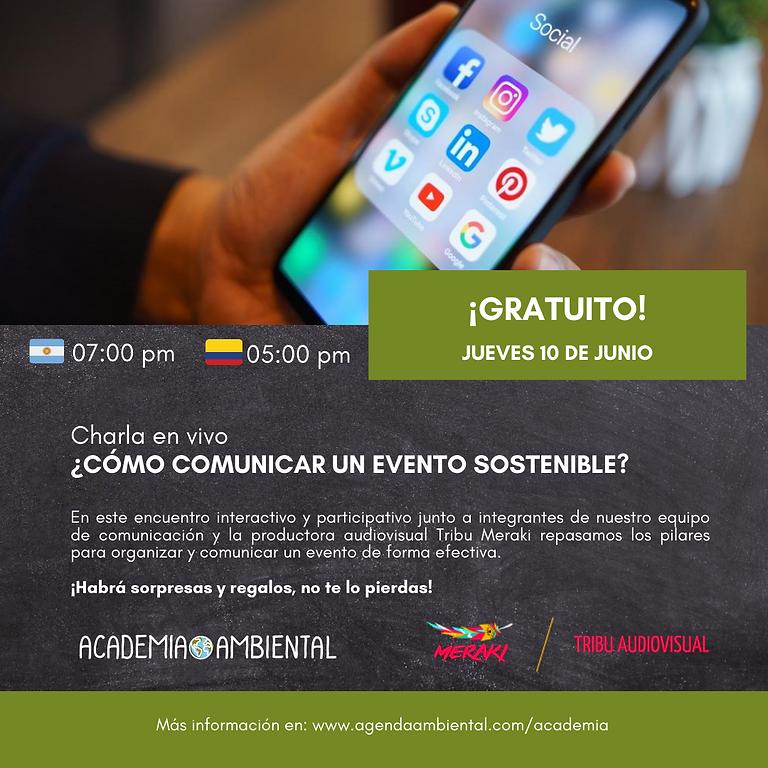¿Cómo comunicar un evento sostenible?