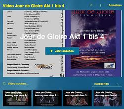 Video, Jour de Gloire, Akt 1 bis 4