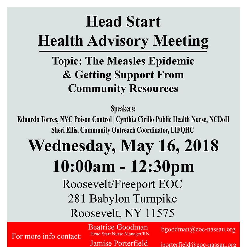 Head Start Health Advisory Meeting