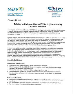 Talking to Children About COVID-19 info@
