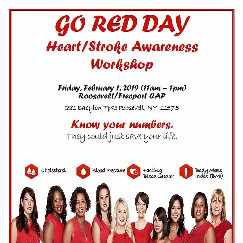MICHC Go RED! Heart/Stroke Awareness Event
