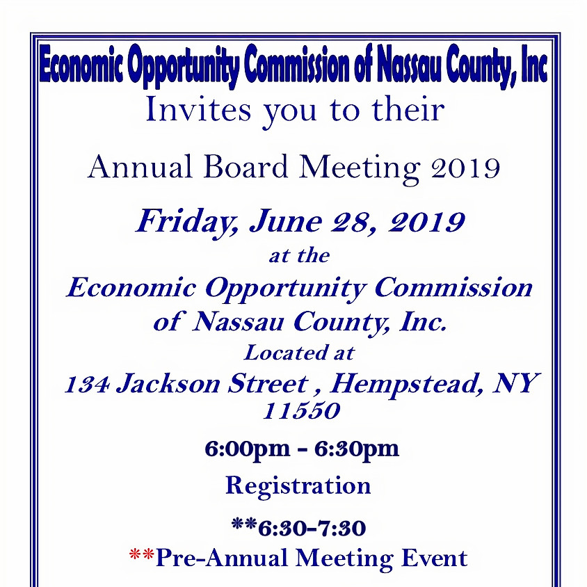 Annual Board Meeting 2019 (MUST RSVP)