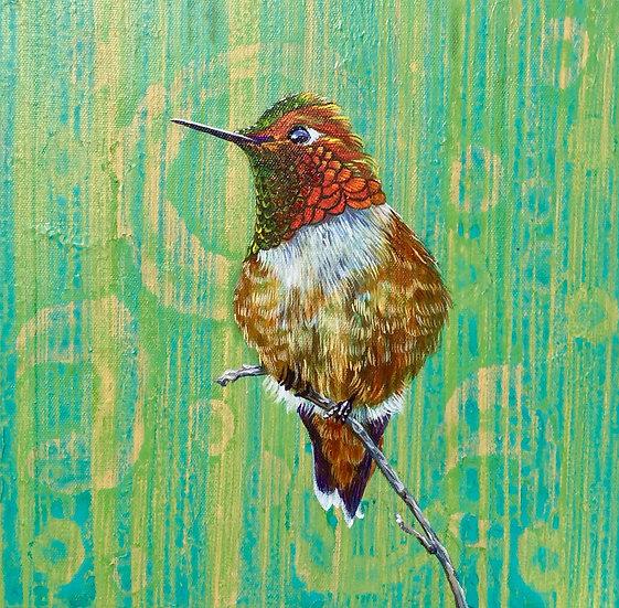 Rufous Hummingbird I - Original