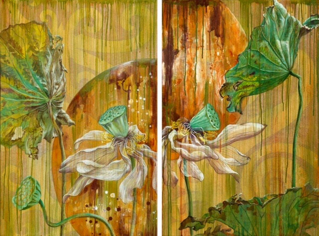 After the Bloom I and II (Diptych) - Original