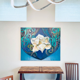Lucy Liew floral wall art in California homes_210112_12.jpeg