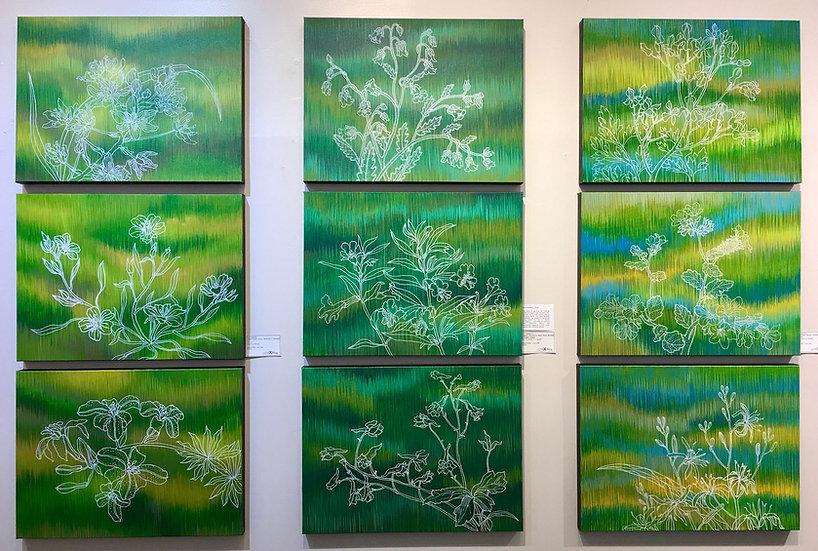 Fleur Sauvages - 9 panel original