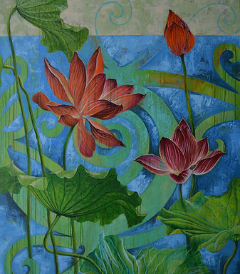 Vernal Spring_acrylic painting_California artist Lucy Liew.JPG