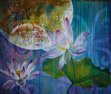 Midsummer Night 2_acrylic painting_California artist Lucy Liew.jpeg