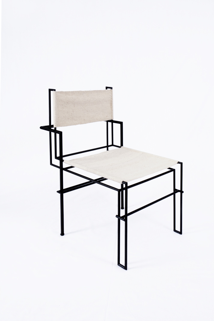 [CAS.BAH] wool /metal chair