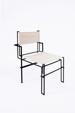 [CAS.BAH] wool /metal chair
