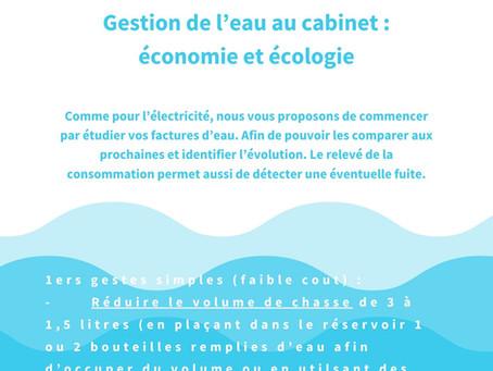 Economie d'eau au cabinet