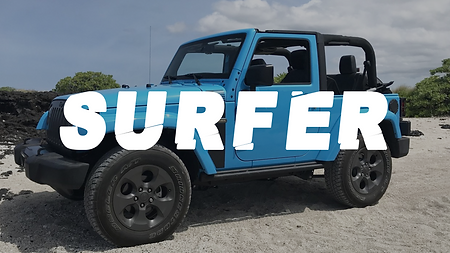 surfer hawaii jeep