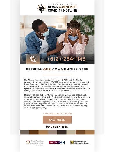 MN Black Community Covid Hotline_Display