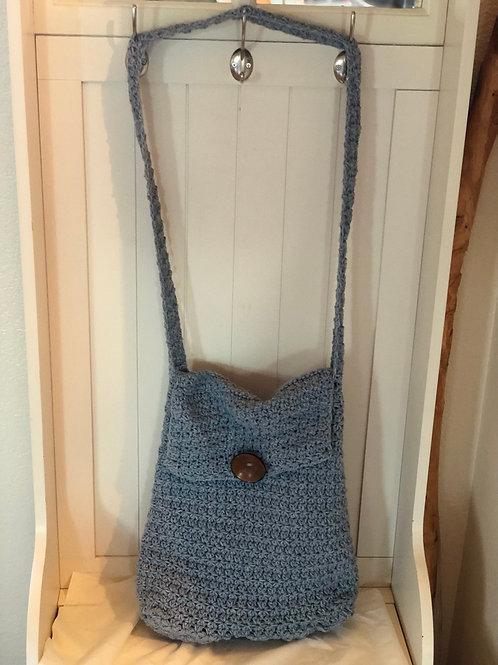 Blue Re-tweed Purse