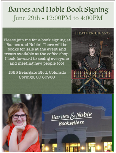 Barns and Noble Book Signing Poster