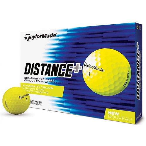 Pelotas TaylorMade Distance+ Amarilla