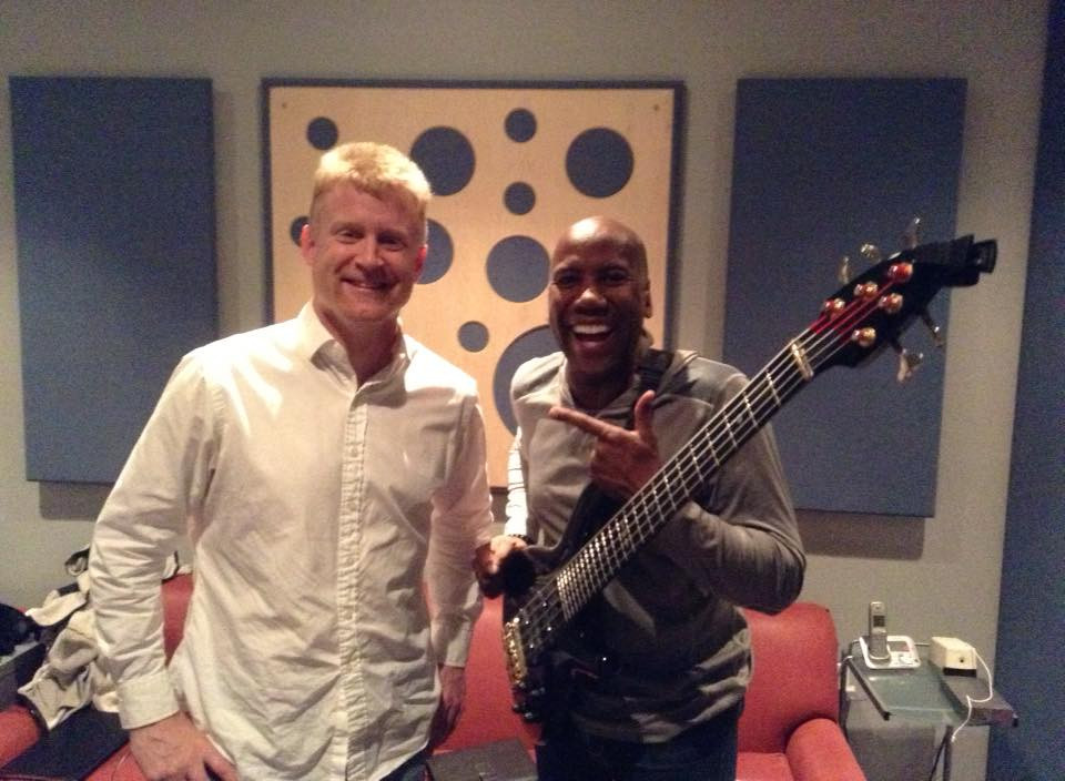With Nathan East