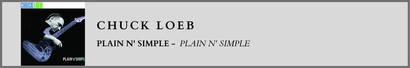 Chuck Loeb - Plain n' Simple