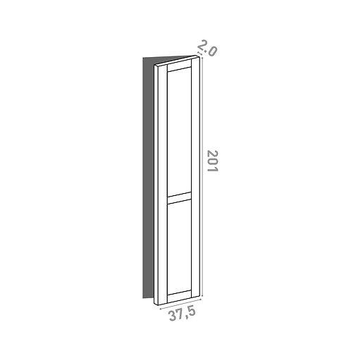 Porte 37.5x201cm - charnières à droite | design cadre | chêne peint