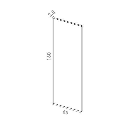 Porte 60X160cm | design lisse | laque mate