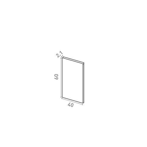 Porte 40X60cm | design U shape | chêne naturel