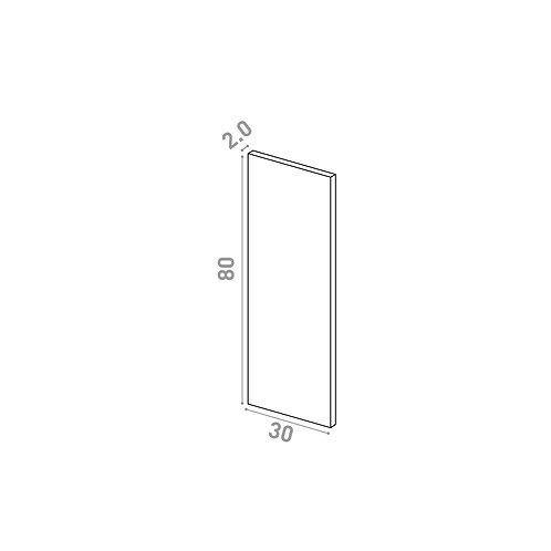 Porte 30X80cm | design lisse | noyer naturel